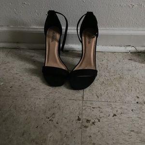 JustFab open toe black sandals